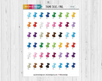 Paper Pins | Thumb tacks | Pins | Planner Stickers | 17311-09