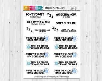 Daylight Savings Planner Stickers | 18020-01