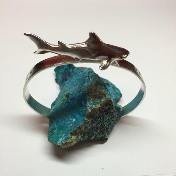 Shark bracelet, Silver Shark, Shark silver bracelet, Shark jewelry, Handmade Jewery, shark bite, shark style, shark lover, sharks jewelry