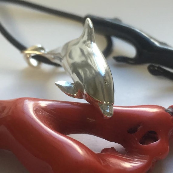 Dolphin pendant, Dolphin charm, Dolphin jewelry, Ocean creatures, under water pet, Silver dolphin, Salt water, ocean jewelry,