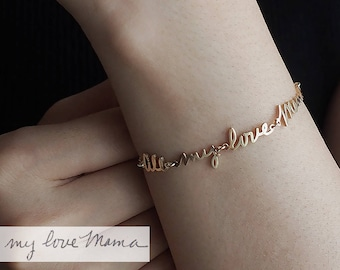 Actual Handwriting Bracelet / Signature Bracelet / Custom Handwriting Bracelet / Name Bracelet / Mother's Day Gift / Memorial jewelry - HB16