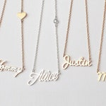 Custom Name Necklace / Personalized Name Necklace / Children Names Necklace / Name Jewelry / Bridesmaid Gifts - HN01C