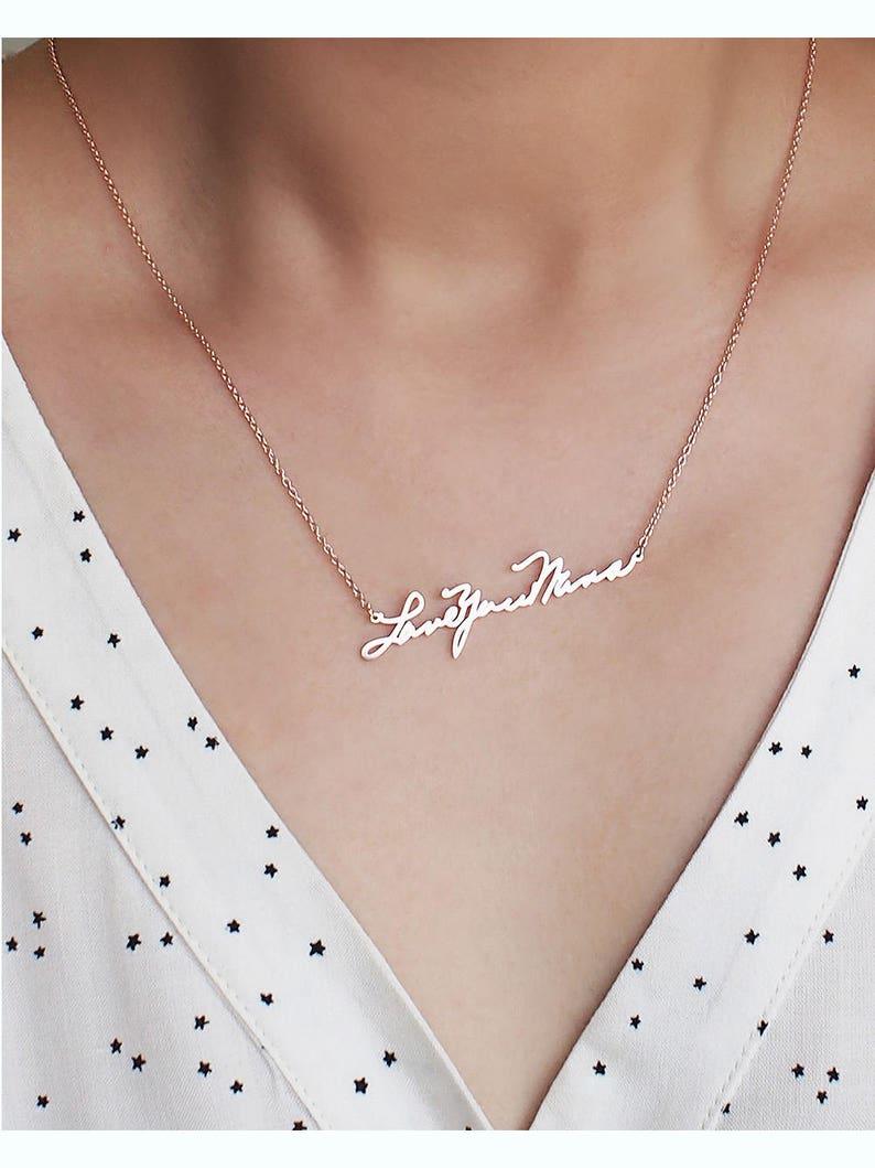 Custom Handwriting Jewelry / Memorial Signature Necklace / image 0