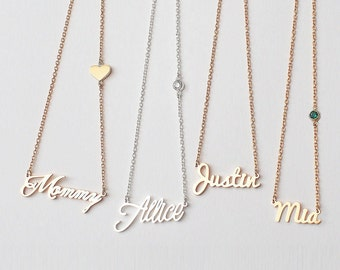 Mother's Gift from Daughter / Custom Name Necklace / Name Jewelry / Children Names Necklace / Bridesmaid Gift - HN01C