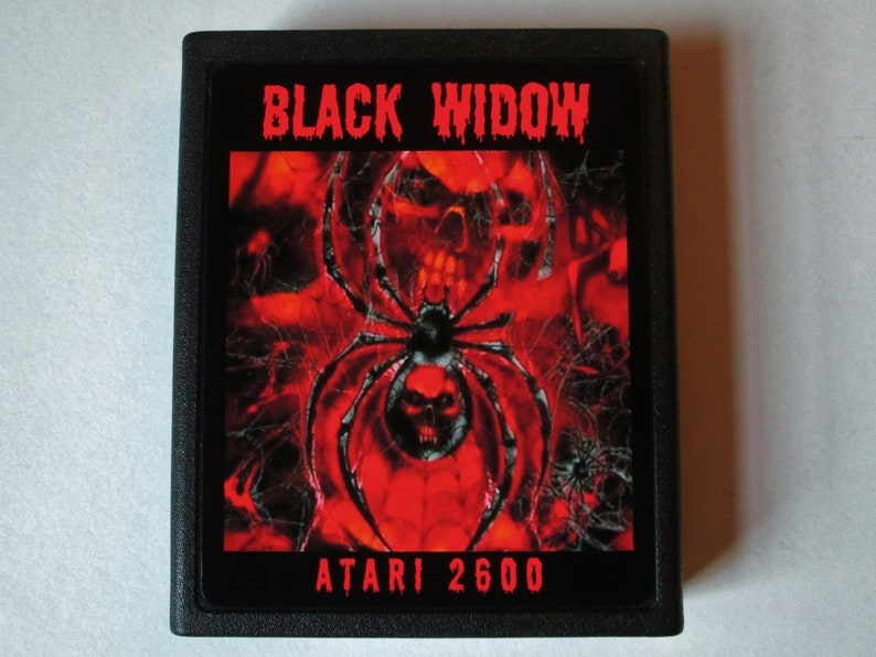 Atari 2600 BLACK WIDOW Video Game Cartridge  Free Shipping image 0