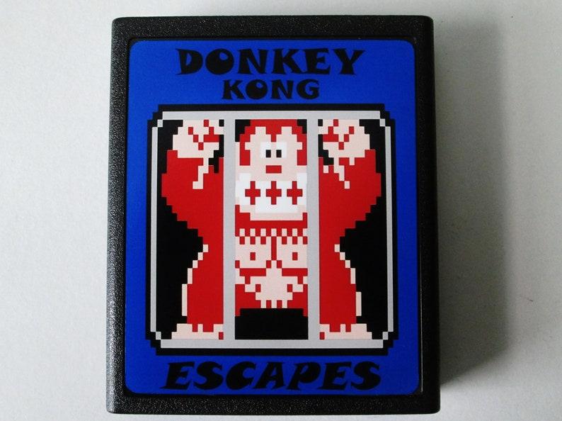 Atari 2600 DONKEY KONG ESCAPES Video Game Cartridge  Free image 0
