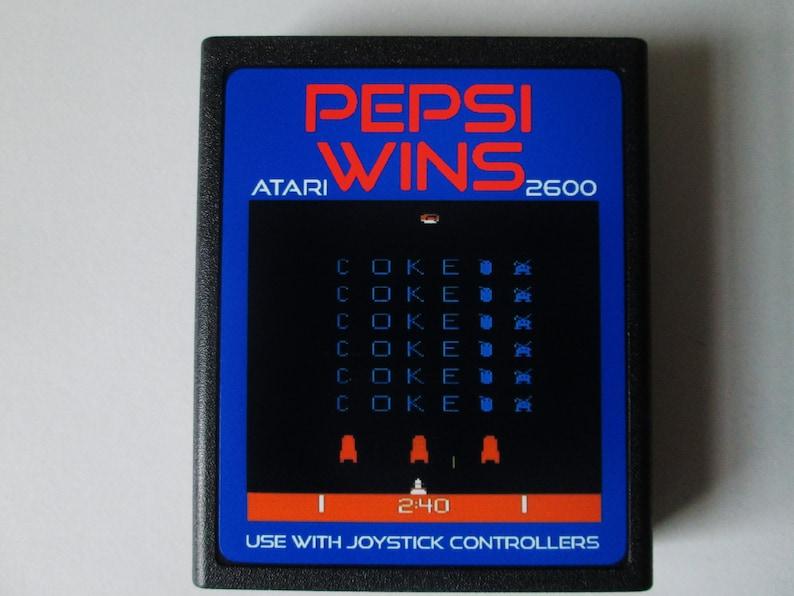 Atari 2600 PEPSI WINS Video Game Cartridge  Free Shipping image 0