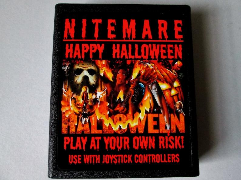 Atari 2600 NITEMARE  Happy Halloween Video Game Cartridge image 0