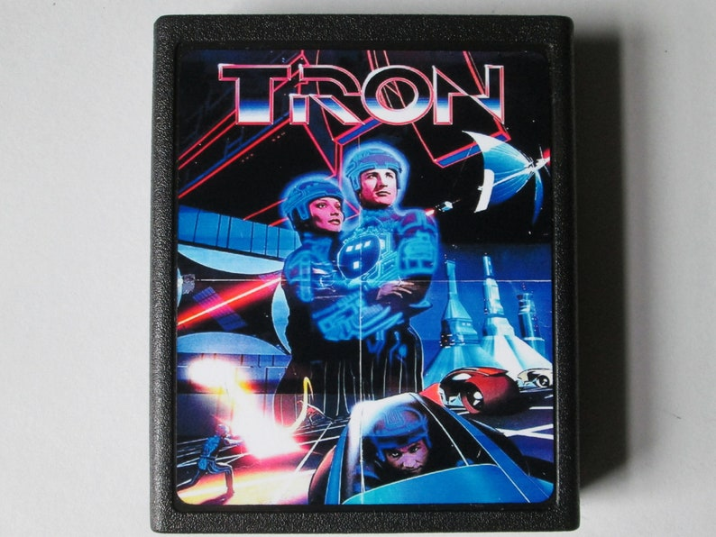 Atari 2600 Tron Saves Atari with Trackers Video Game Cartridge image 0