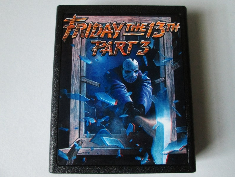Atari 2600 Friday The 13th Part 3 Video Game Cartridge  image 0