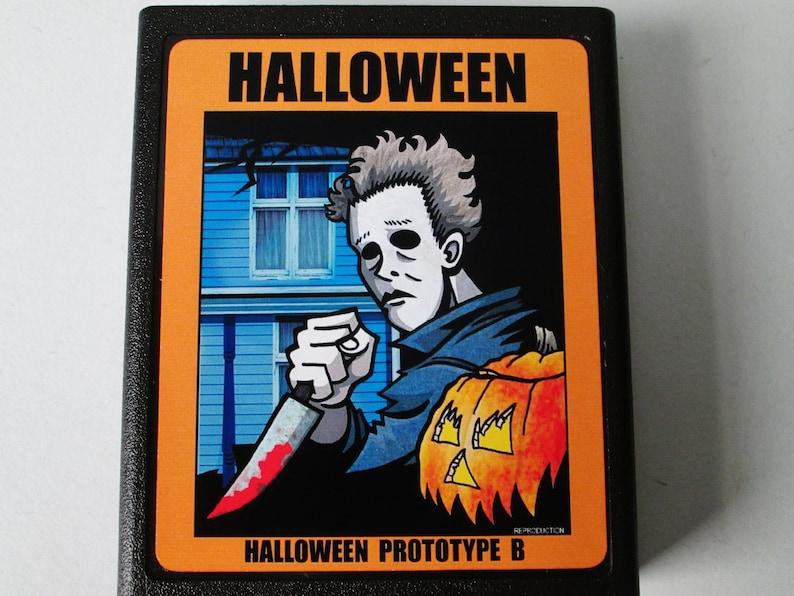 Atari 2600 Halloween Prototype B Video Game Cartridge Repro image 0