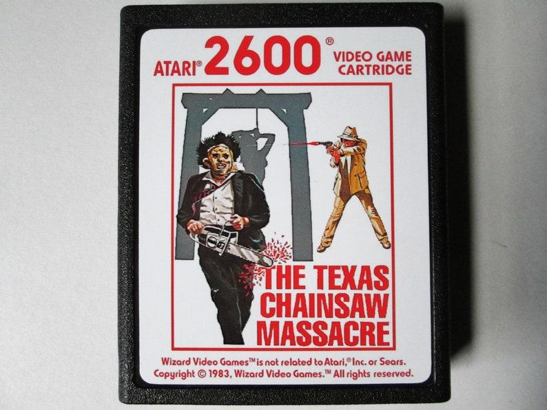 Atari 2600 The TEXAS CHAINSAW MASSACRE Video Game Cartridge image 0