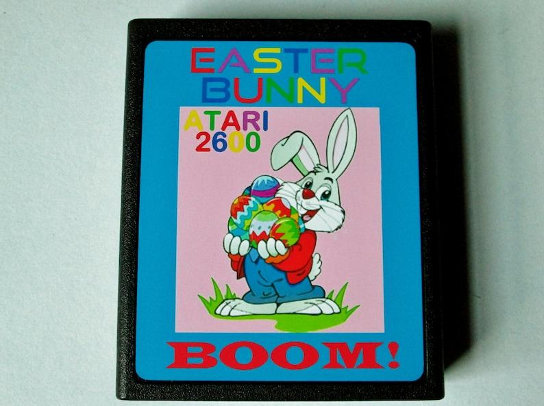 Atari 2600 EASTER BUNNY BOOM Video Game Cartridge Normal image 0
