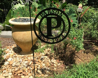 Metal Last Name Sign - ACM Metal Personalized Garden Flag - Quick Shipping - Metal Established Sign - Family Name Decor-Monogram Garden Flag