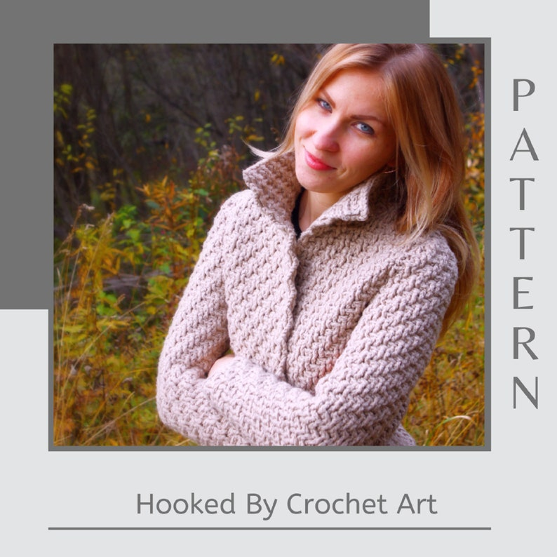 Crochet Jacket Pattern Crochet Jaket For Woman Crochet image 0