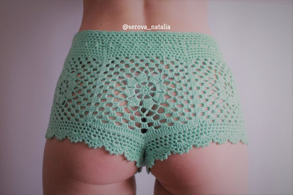 Crochet Shorts Pattern Beach Shorts Summer Shorts Bikini Etsy