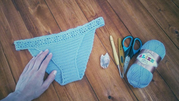 Crochet Bikini Bottom Pattern Crochet Panties Lace Lingerie Etsy