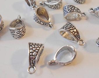 10 silver bails bright silver pendants pendant bails etsy 20 large silver bails 14 x 7 mm antique silver pendant bails large hole bails 5 mm hole necklace bails jewelry bails diy jewelry supplies aloadofball Gallery