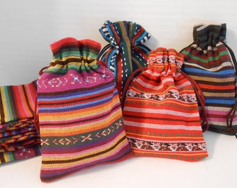 10x14 cm Boho Jewelry Bags | Drawstring Bags | Gift Bags | Fabric Bags | Cloth Bags | Favor Bags | Tribal | Ethnic | Pouches | Packaging