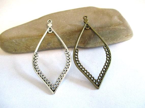 10 x Tibetan Silver Earring Chandelier Multi Strand Connectors Charms Pendants
