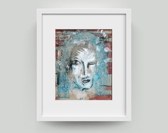 Painting abstract 10/8 inch (25.4/20.3 cm) Art, Portrait