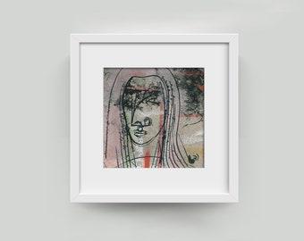 "Image ""Eternal thinking"" 10/10 cm (3,94/3,94 inch)"