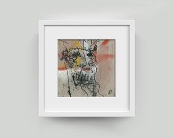"Original image 10/10 cm (3,94/3,94 inch) ""Royal Dreamer"""