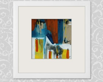 Painting, abstract art 20/20 cm... 7,87/7,87 Inch