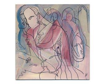 Abstract art 15 x 15 cm (5, 9 x 5, 9 inch)