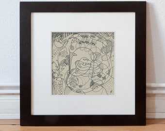 Drawing for the wall, art 20/20 cm (7,87/7,87 inch)