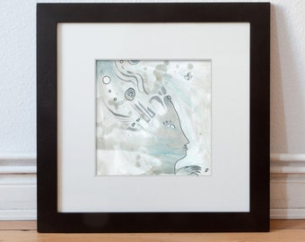 Original mural 20/20 cm (7,87/7,87 inch) painting-Drawing, abstract & figurative art by Holger Barghorn, artist portrait