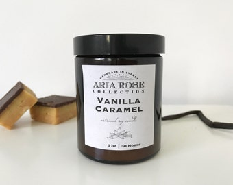 Vanilla Caramel Scented Soy Candle - 5 oz