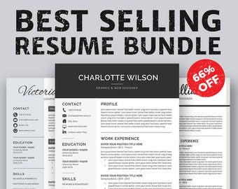 Professional Resume Template, Planners. Cover Letter, MS Word, For Mac & PC, Simple Modern Creative Resume, Instant Download, Charlotte RB