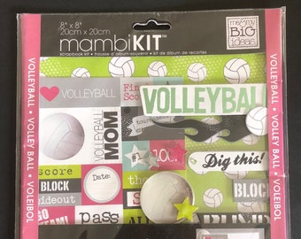 "MAMBI 8"" x 8"" Scrapbook Kit - Volleyball"