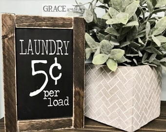 Ready To Ship Laundry Room Rustic Wood Sign Farmhouse Sign Laundry 5 Cents Wood Sign