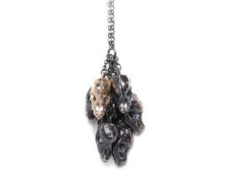Fruit bat cluster necklace
