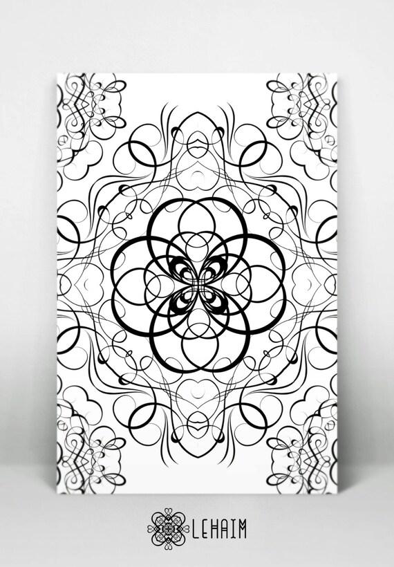 Erwachsene Und Kinder Malen Mandala Zeichnung Blumenmuster Etsy