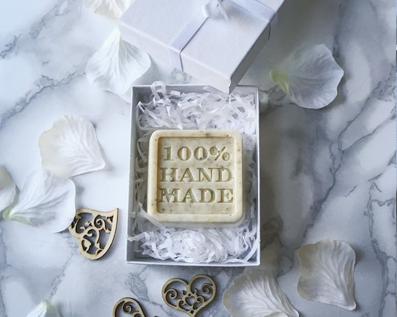 Luxury Wedding Favours Hand Made Soaps In A White Box Ribbon Etsy