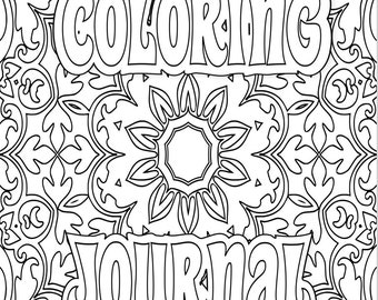 33 COLORING Pages Adult Coloring Book and Journal; Meditation; Mandala, Heart, Pattern to Print Color; Printable PDF Instant Download