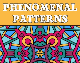 25 PATTERNS COLORING Pages Adult Coloring Book (Volume 2); Meditation, Relaxation; Geometric Quilt Patterns; Printable PDF Instant Download