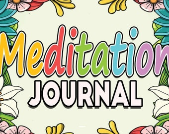 28 COLORING PAGES MEDITATION Journal Coloring Book; Self-Care; Self-Help; Mental Health; Print on demand; Printable pdf Instant Download