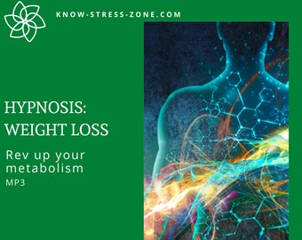 HYPNOSIS: WEIGHT LOSS Rev Up Your Metabolism MP3; Binaural Beats; Self Care; Stress; Mental Health; Self Help; Meditation; Stress Relaxation