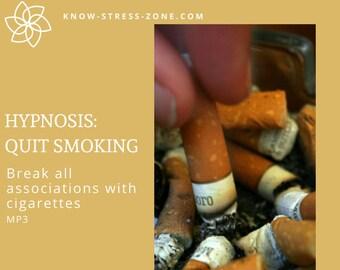 HYPNOSIS: QUIT SMOKING Break All Associations with Cigarettes MP3; Binaural Beats; Mental Health; Self Care; Self Help Meditation; Addiction