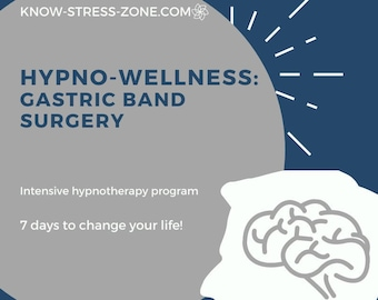 HYPNOSIS: WEIGHT LOSS Gastric Band Surgery Hypno-Wellness Program 7-Day Intensive MP3 Stress Hypnotherapy Meditation Mental Health