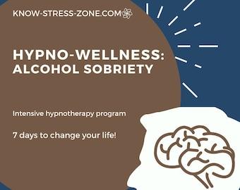 HYPNOSIS: ALCOHOL SOBRIETY Hypno-Wellness Program 7-Day Intensive MP3 Binaural Beats Addiction Self Care Self Help Meditation Mental Health