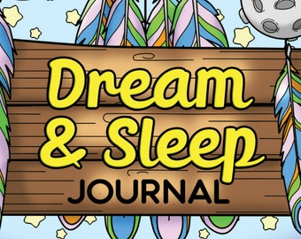 21 COLORING PAGES Dream and Sleep Journal Adult Coloring Book ; Self Care; Self Help; Mental Health; Printable pdf; POD