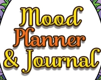 31 COLORING PAGES Mood Planner and Journal Adult Coloring Book ; Self Care; Self Help; Mental Health; Printable pdf; POD