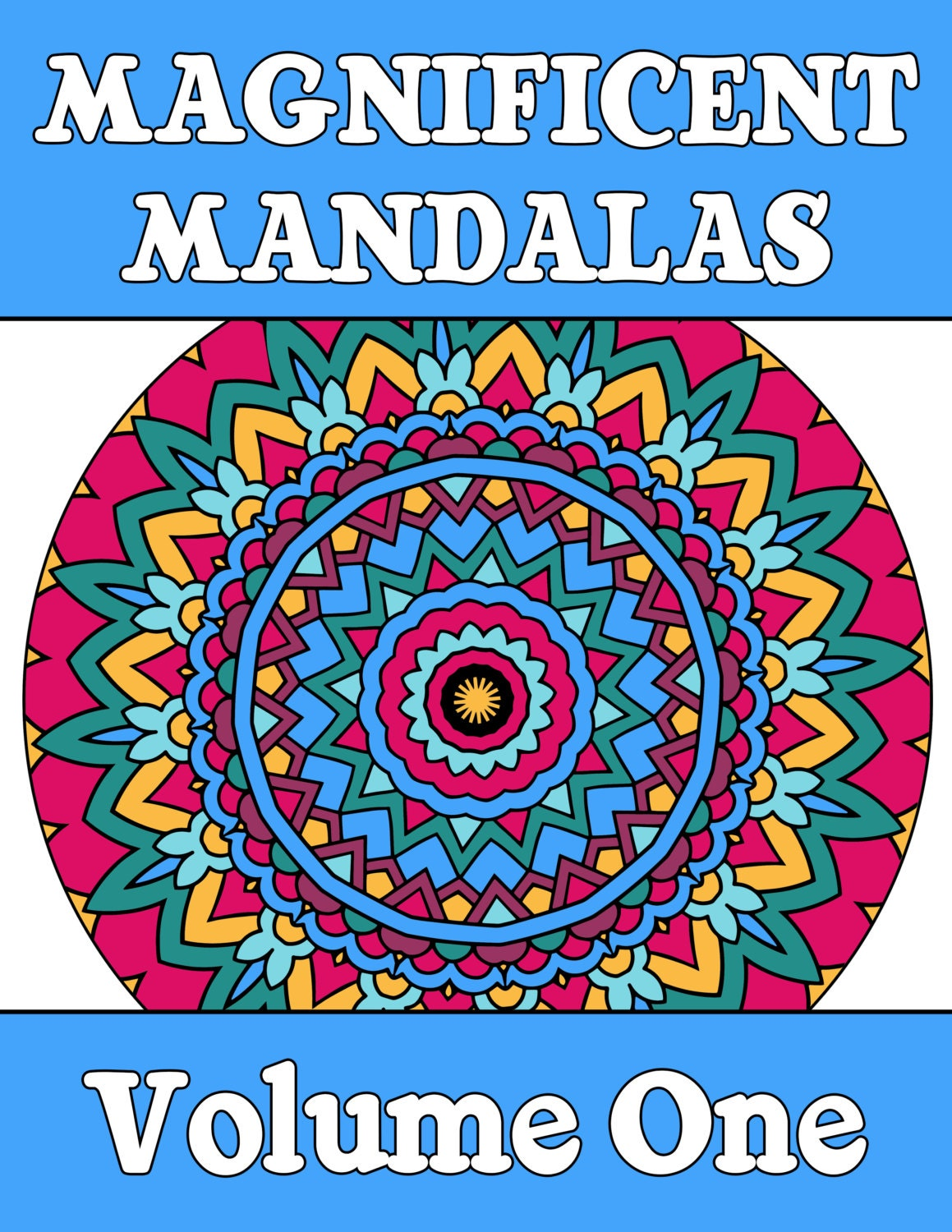25 MANDALA COLORING Pages Adult Coloring Book Mindfulness | Etsy