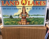 NOS- BRAND NEW Land o Lakes metal recipe box very rare great find in this condition take a look