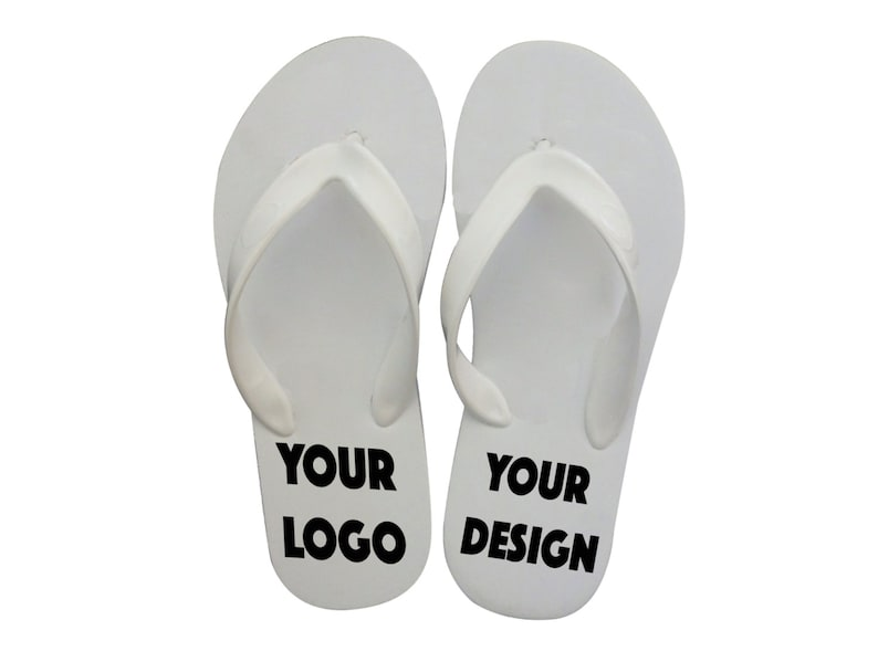 fc51d17edcdd7 40 pairs - Personalized Flip-flops for Party Guests - Wedding, Sweet 16,  Anniversary. BULK
